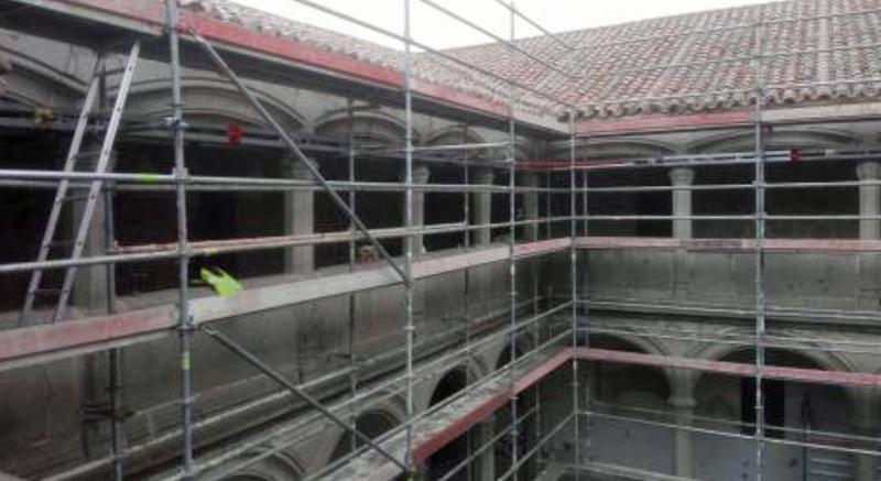 Obras de rehabilitación del tejado del Real Monasterio Santo Tomás de Ávila