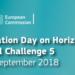 El Information Day del Programa Horizonte 2020 de la convocatoria 2019 se celebrará el 11 y 12 de septiembre