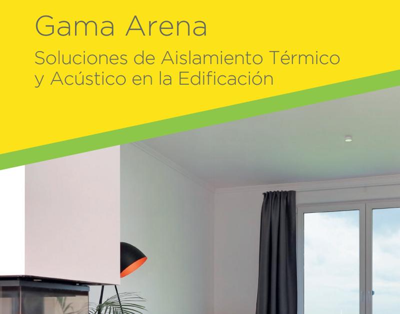 Portada del Catálogo Gama Arena. Soluciones de Aislamiento en la Edificación de Isover