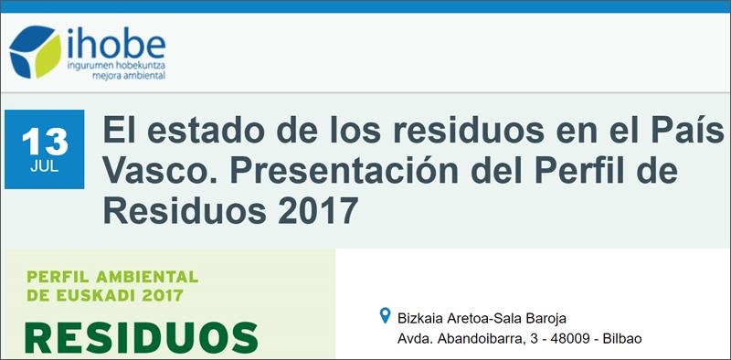 Cartel Jornada sobre el estado de los residuos en el País Vasco