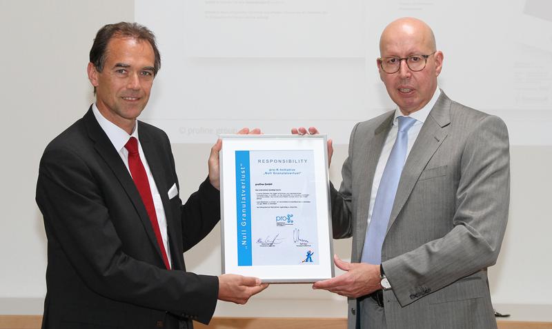 Kömmerling recoge certificado Pérdida de pellets cero
