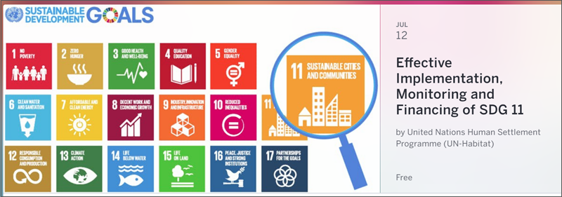 Logo jornada Implementación efectiva, monitorización y financiamiento del ODS11