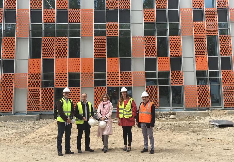 Visita de las obras al IndUVA de la Escuela de Ingenierías Industriales de la Universidad de Valladolid