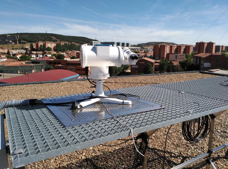 dispositivo Sky-Scanner ultilizado para el estudio de la Universidad de Burgos