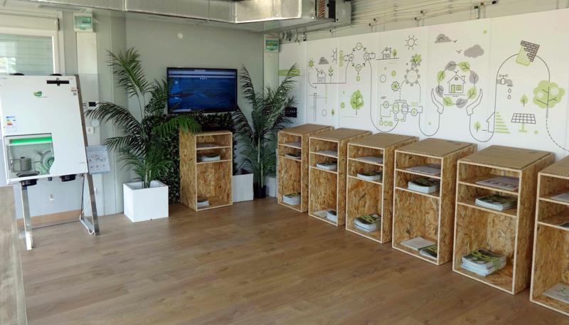 Interior del Aula de Sostenibilidad e Innovación de AEDAS Homes