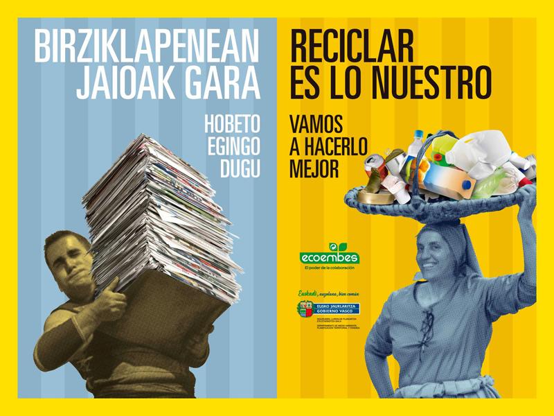 Cartel de la campaña Reciclar es lo nuestro