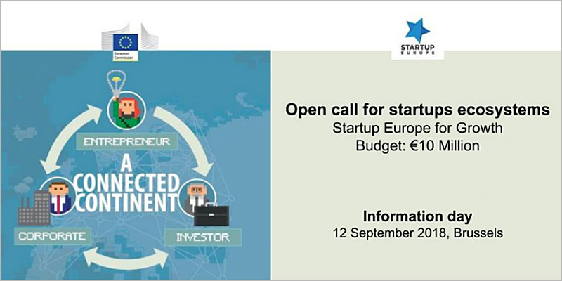 Cartel programa Startup Europe for Growth