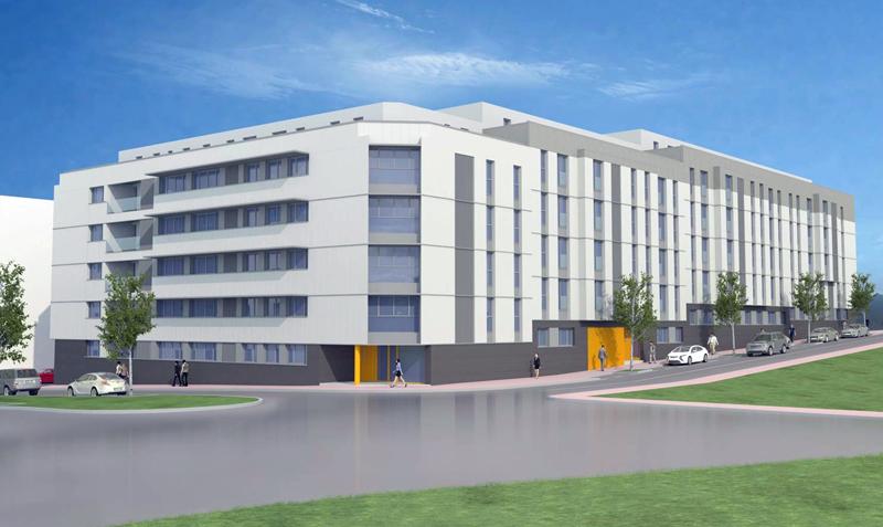 Proyecto del edificio de 120 viviendas asequibles en San Román, Santander