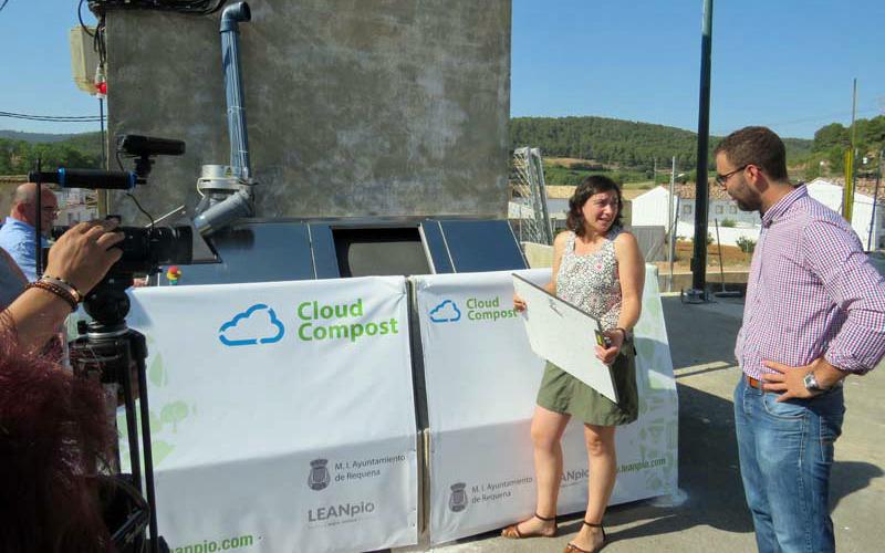 Acto de presentación del sistema de compostaje BigHanna en El Rebollar