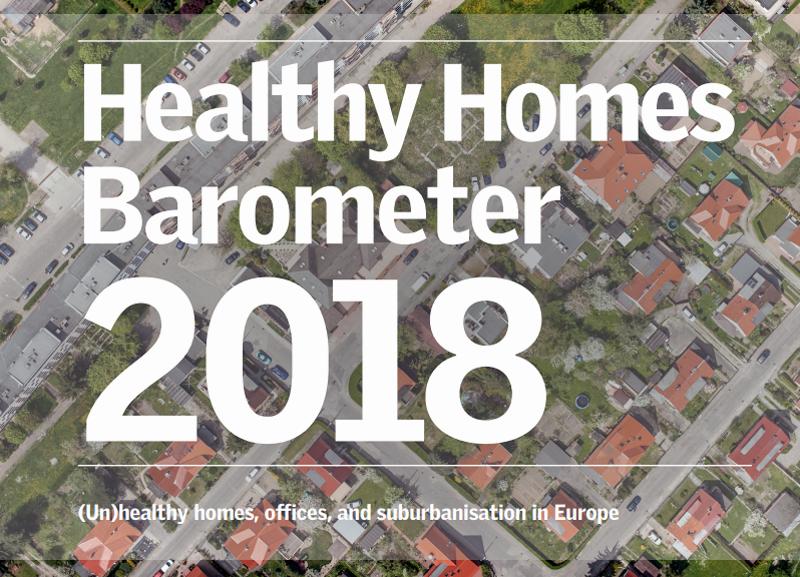 Portada del informe Barómetro de la Vivienda Saludable 2018