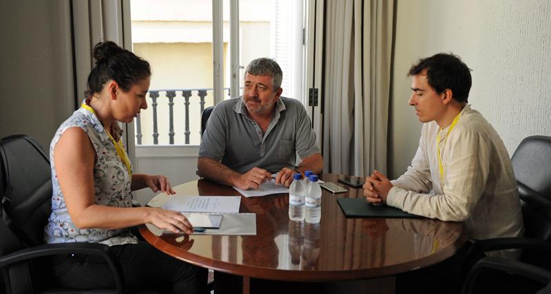 Reunión de los representantes de la Diputación de Valencia y de los proyectos Aldren y Sherpa