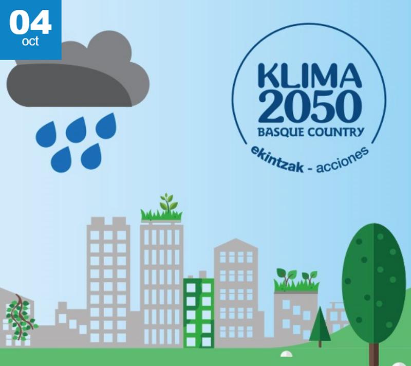 Cartel de la jornada Asegurar la resiliencia del territorio vasco al cambio climático. Herramientas y casos prácticos