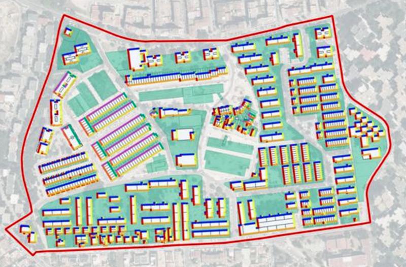 Mapa mejora de la eficiencia energética en barrios
