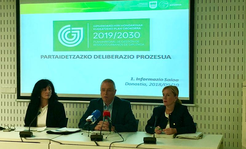 Presentación del proceso de deliberación participativa del nuevo Plan de Residuos de Guipúzcoa