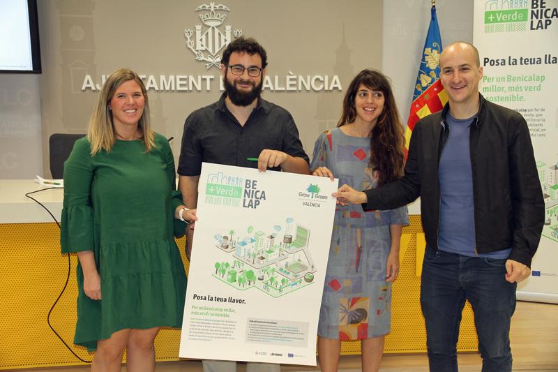 Acto de presentación de la campaña Más verde Benicalap