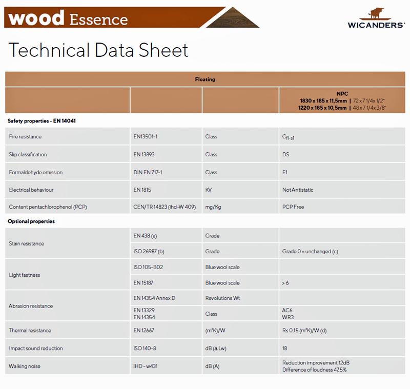 Ficha técnica Wood Essence