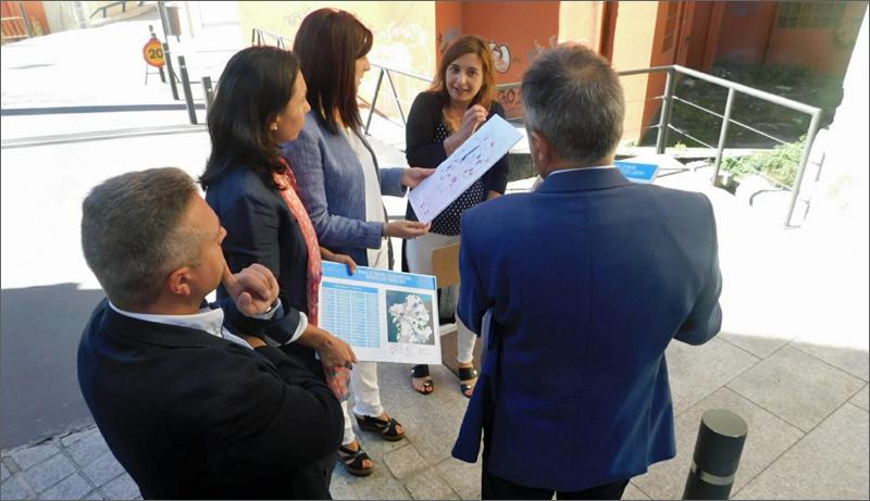 Visita de la consejera de Vivienda en Galicia al municipio de Marín