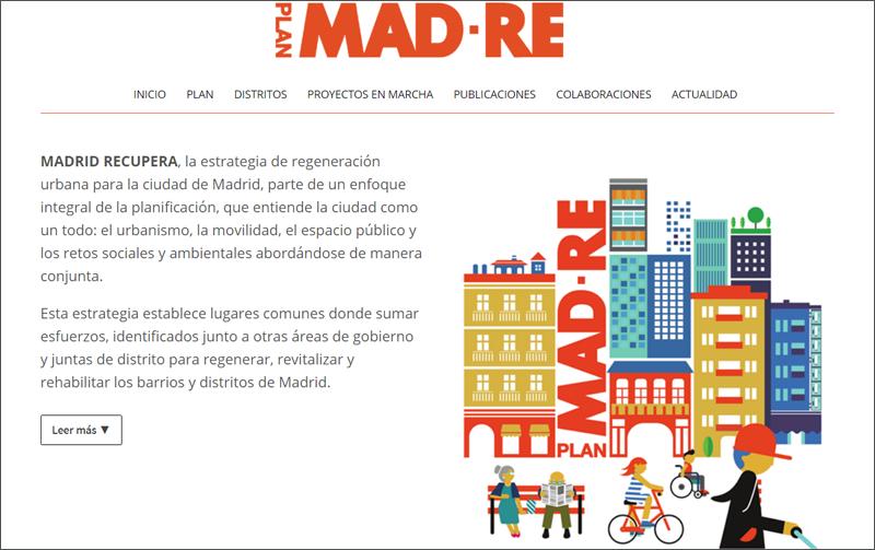 Logotipo Plan MAD-RE (Madrid Recupera)