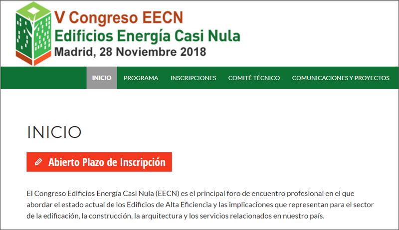 Web Congreso Edificios Energía Casi Nula