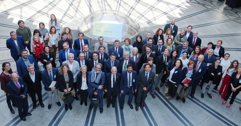 Autoridades y miembros que acudieron a la presentación del Observatorio de Arquitectura