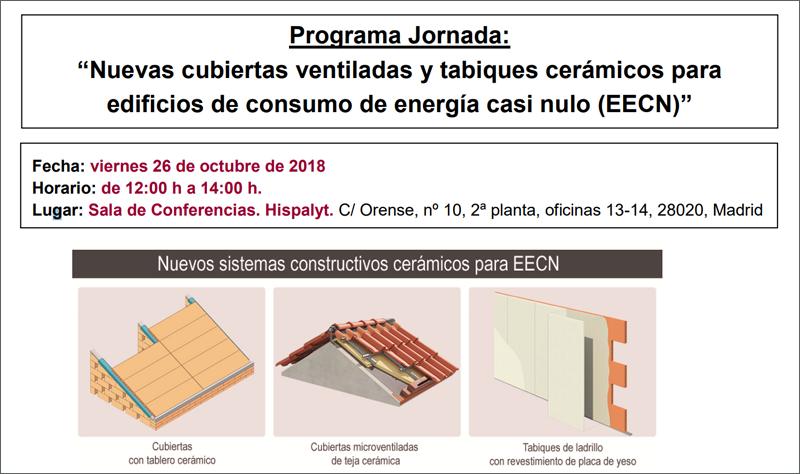 hispalyt organiza una jornada sobre cubiertas ventiladas y On clases de ceramica madrid