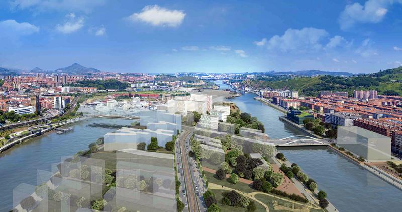 Proyecto de la isla de Zorrotzaurre en Bilbao