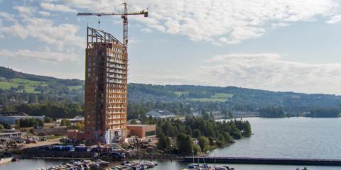 Noruega acoge la construcción del edificio de madera más alto del mundo, un material de bajo impacto climático