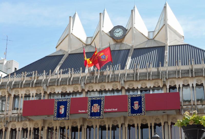 Fachada exterior del Ayuntamiento de Ciudad Real