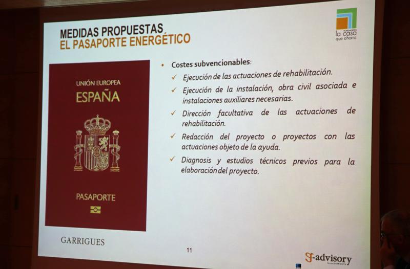 Presentación del informe del Pasaporte Energético