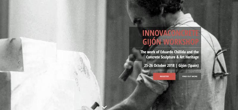 Cartel del workshop en Gijón del proyecto Innovaconcrete