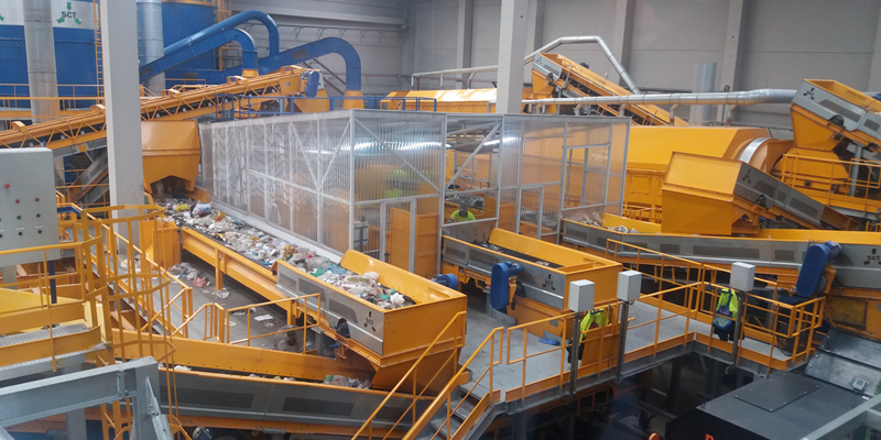 maquinaria para la gestión de residuos