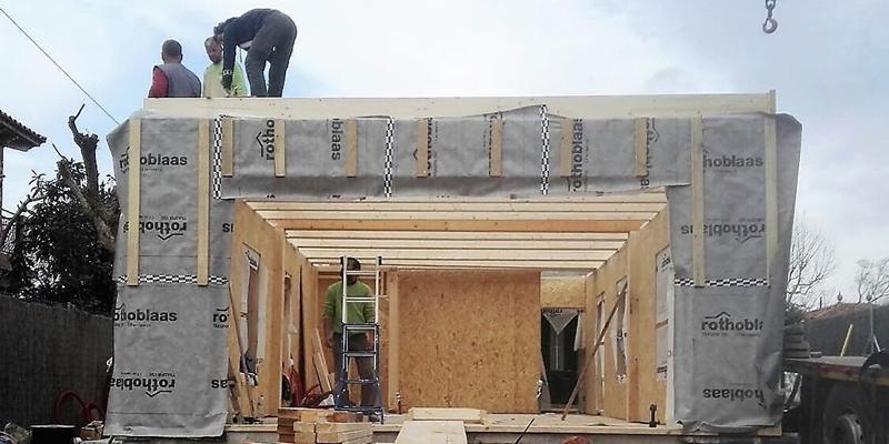 paneles casa en construcción