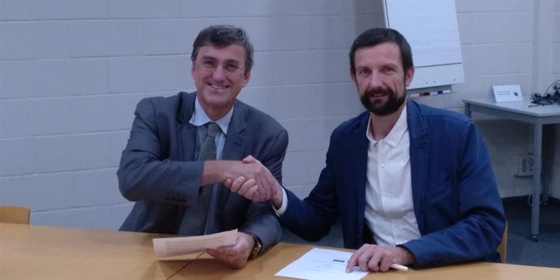 Bruno Sauer, de GBCe y Francisco José Diéguez Lorenzo, de ITEC.