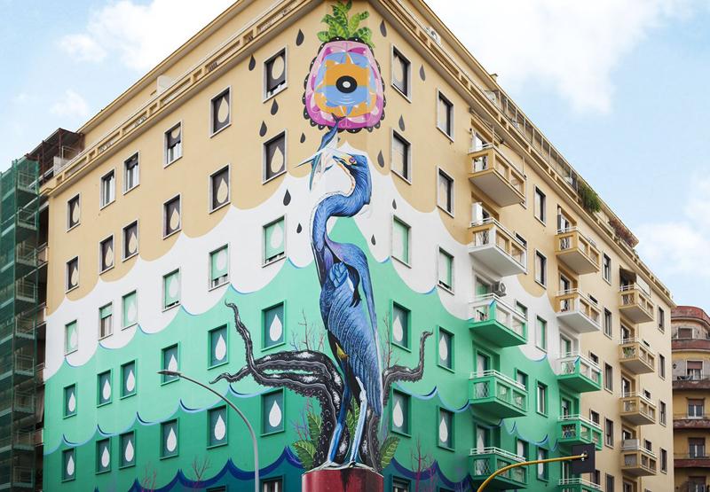 Mural de Federico Massa con pintura saludable de Airlite