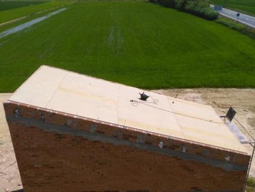 impermeabilidad paneles sandwich masia catxin