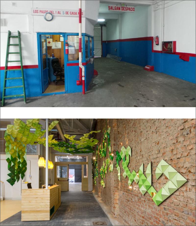 entrada garaje reformado antes y despues