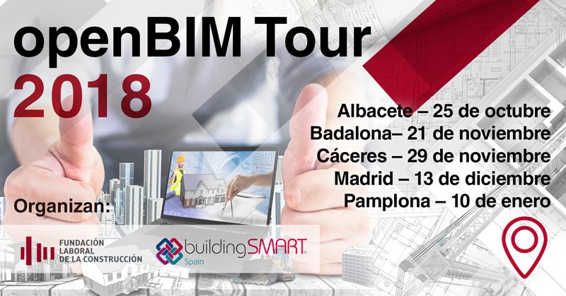 Cartel de OpenBIM Tour 2018
