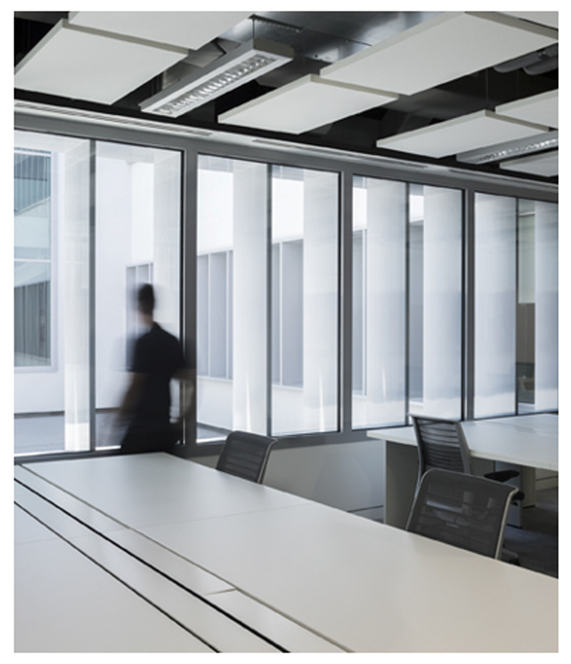 Figura 7. Zona de trabajo en del Edificio CAMPUS 2.