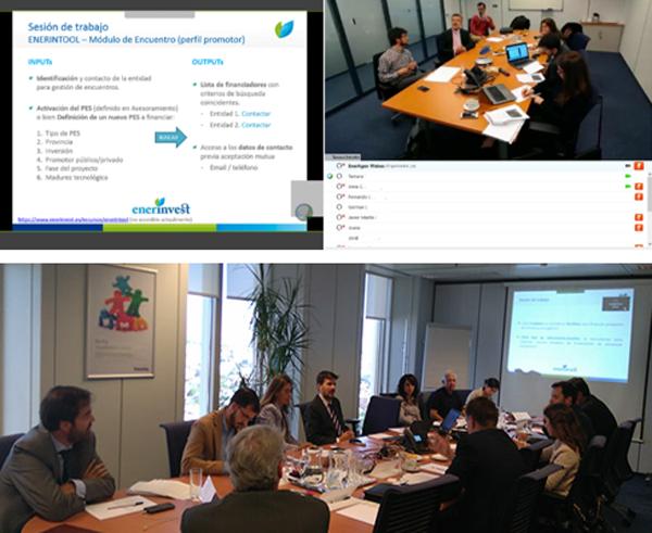 Figura 1. Reuniones mantenidas con los expertos de los Grupos de Trabajo de ENERINVEST.