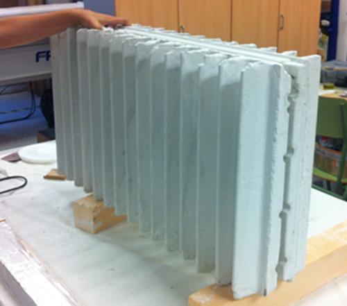 Figura 2. Bloques hormigón sometidos a calentamiento dieléctrico.