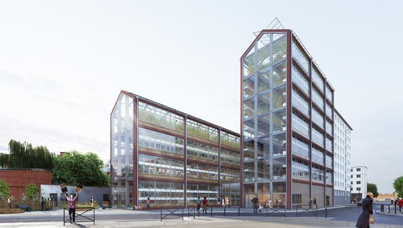 Cité Maraîchère: Agricultura urbana de la mano del estudio de arquitectura francés Ilimelgo