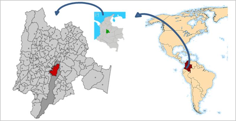 Figura 1. Ubicación geográfica de Bogotá.