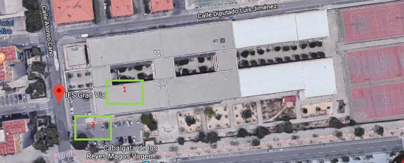Figura 2. Situación elementos. Figura obtenida en Google Maps.
