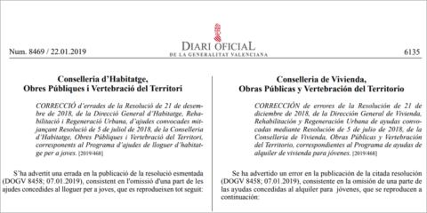 La Generalitat Valenciana adjudica más de 21 millones en ayudas para rehabilitación de edificios y viviendas