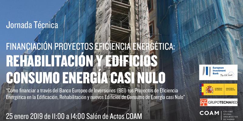 Jornada sobre Financiación del BEI para Proyectos de Eficiencia Energética en Rehabilitación y Edificios de Consumo de Energía Casi Nulo en el COAM
