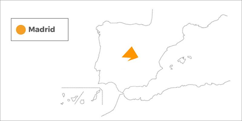 mapa españa madrid via celere