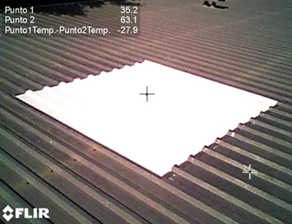 Figura 3. Imagen captada desde el interior de la cubierta tratada.