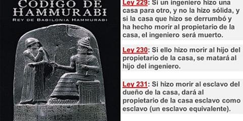 Del Código de Hammurabi a los edificios de energía casi nula del Código Técnico de la Edificación