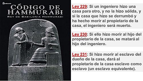Figura 1. Representación Código de Hammurabi escrito en 1750 AC.