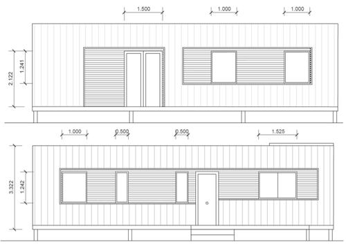 Figura 5. Alzados vivienda (Elaboración propia).